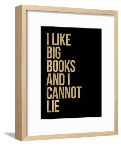 I Like Big Books Golden Black-Amy Brinkman-Framed Art Print
