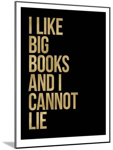 I Like Big Books Golden Black-Amy Brinkman-Mounted Art Print