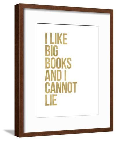 I Like Big Books Golden White-Amy Brinkman-Framed Art Print