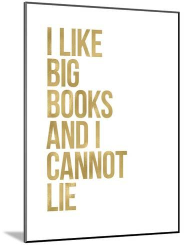 I Like Big Books Golden White-Amy Brinkman-Mounted Art Print