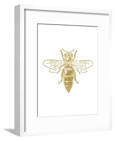 Bumblebee Golden White-Amy Brinkman-Framed Art Print