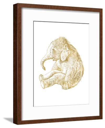 Elephant Baby Golden White-Amy Brinkman-Framed Art Print