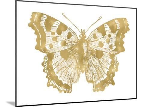 Butterfly 1 Golden White-Amy Brinkman-Mounted Art Print