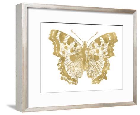 Butterfly 1 Golden White-Amy Brinkman-Framed Art Print