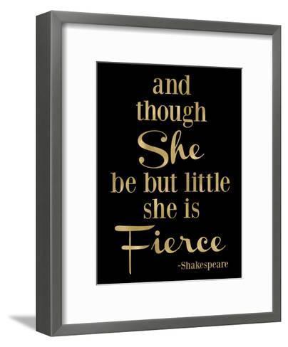 Fierce Shakespeare Golden Black-Amy Brinkman-Framed Art Print