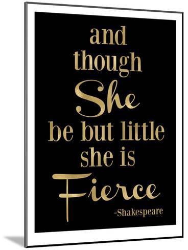 Fierce Shakespeare Golden Black-Amy Brinkman-Mounted Art Print