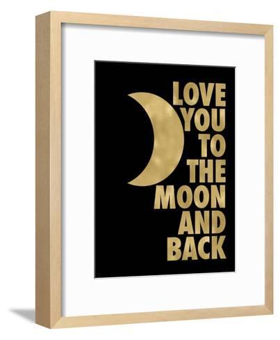 Love You Moon Back Golden Black-Amy Brinkman-Framed Art Print