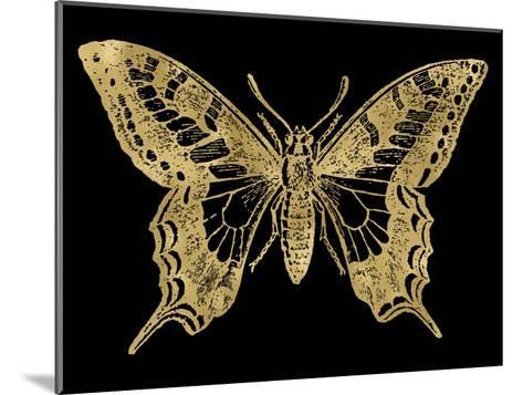 Butterfly 2 Golden Black-Amy Brinkman-Mounted Art Print