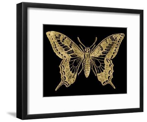 Butterfly 2 Golden Black-Amy Brinkman-Framed Art Print