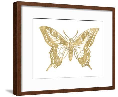 Butterfly 2 Golden White-Amy Brinkman-Framed Art Print