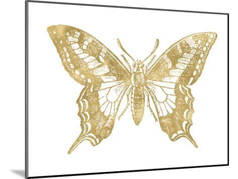 Butterfly 2 Golden White-Amy Brinkman-Mounted Art Print