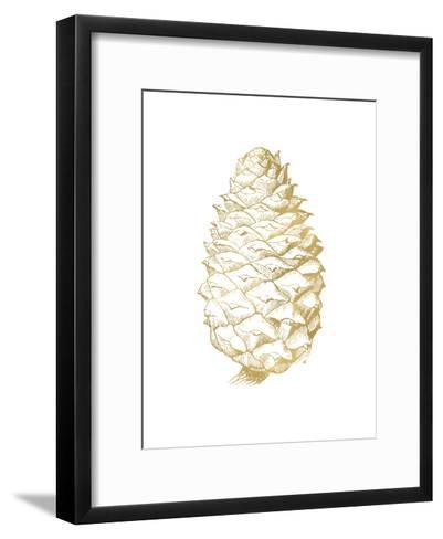 Pine Cone Golden White-Amy Brinkman-Framed Art Print