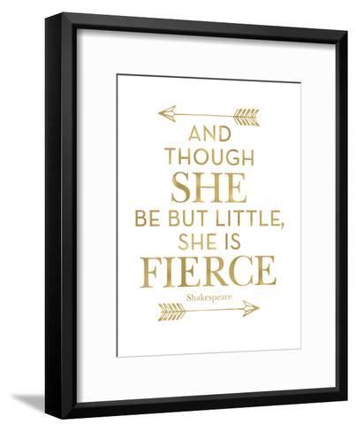 Fierce Shakespeare Arrows Golden White-Amy Brinkman-Framed Art Print