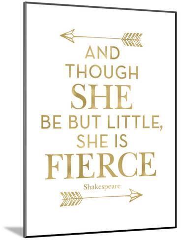 Fierce Shakespeare Arrows Golden White-Amy Brinkman-Mounted Art Print