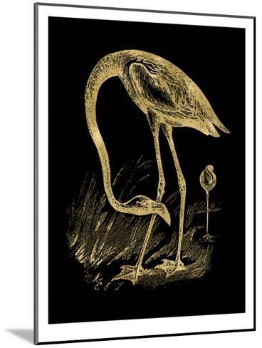 Flamingo 1 Golden Black-Amy Brinkman-Mounted Art Print