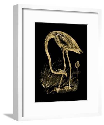 Flamingo 1 Golden Black-Amy Brinkman-Framed Art Print