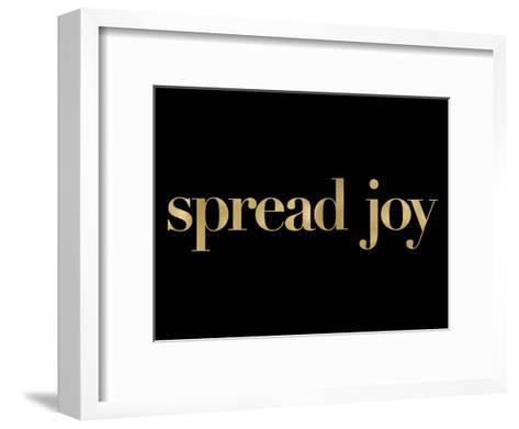 Spread Joy Golden Black-Amy Brinkman-Framed Art Print
