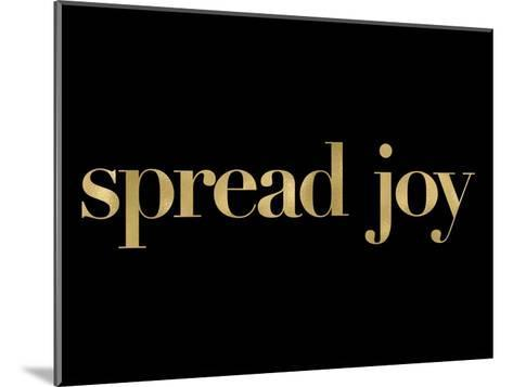Spread Joy Golden Black-Amy Brinkman-Mounted Art Print