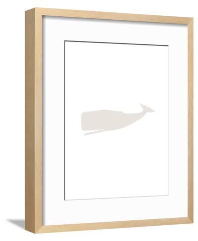 Beige Whale-Jetty Printables-Framed Art Print