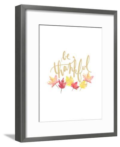 Be Thankful-Jetty Printables-Framed Art Print