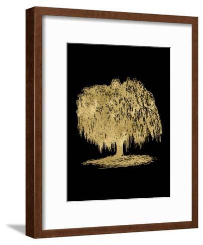 Weeping Willow Tree Golden Black-Amy Brinkman-Framed Art Print