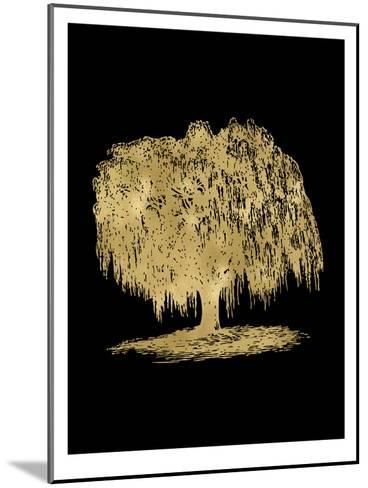 Weeping Willow Tree Golden Black-Amy Brinkman-Mounted Art Print