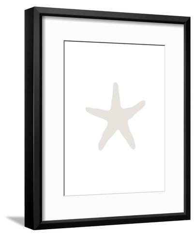 Beige 2 Starfish-Jetty Printables-Framed Art Print