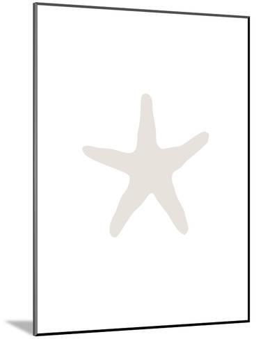 Beige 2 Starfish-Jetty Printables-Mounted Art Print