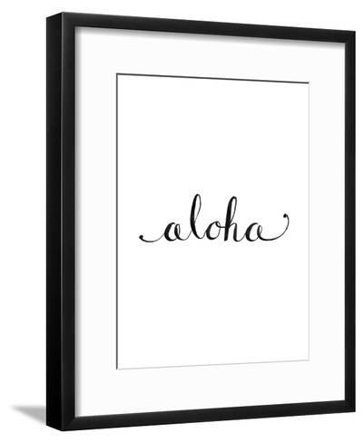 Aloha-Jetty Printables-Framed Art Print