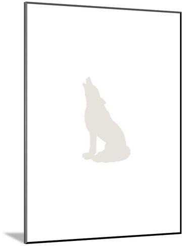 Beige Wolf-Jetty Printables-Mounted Art Print