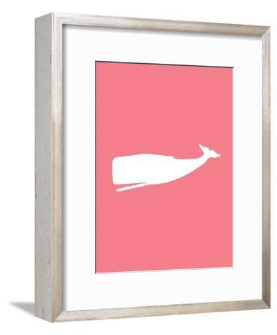 Coral Whale-Jetty Printables-Framed Art Print