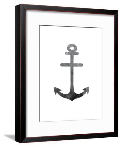 Black White Anchor-Jetty Printables-Framed Art Print