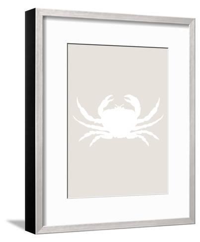 Beige White Crab-Jetty Printables-Framed Art Print