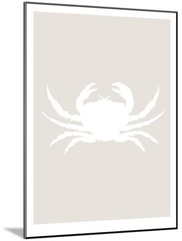 Beige White Crab-Jetty Printables-Mounted Art Print