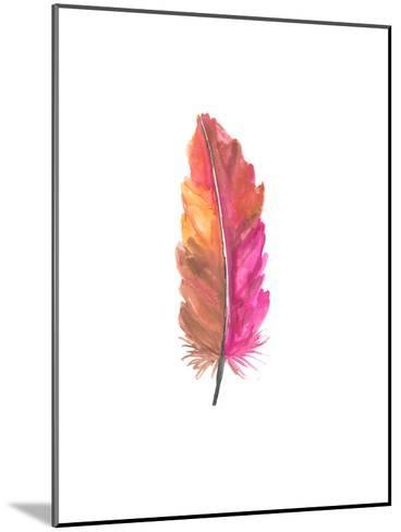 Feather 5-Jetty Printables-Mounted Art Print