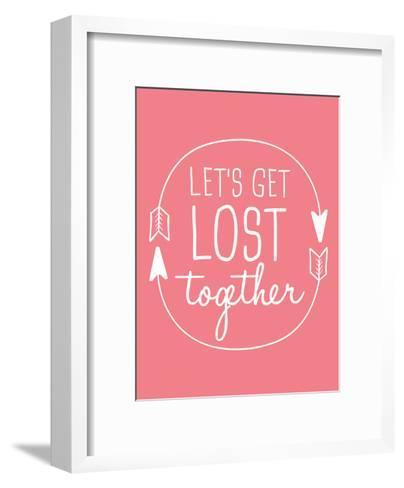 Coral White Let's Get Lost-Jetty Printables-Framed Art Print