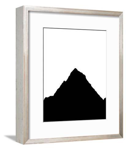 Black Mountain-Jetty Printables-Framed Art Print