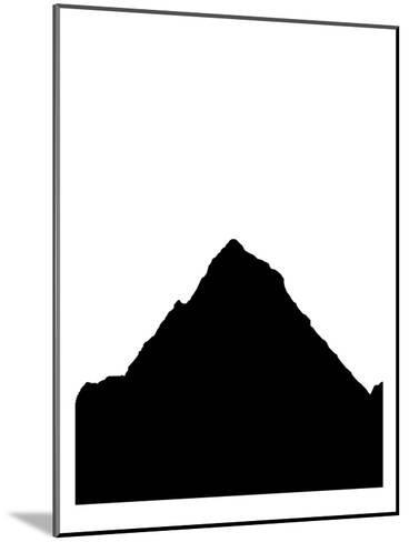 Black Mountain-Jetty Printables-Mounted Art Print