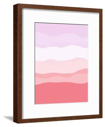 Coral Lavender Abstract-Jetty Printables-Framed Art Print