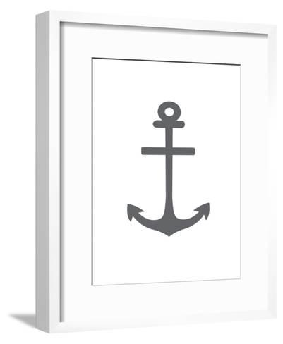 Gray Anchor-Jetty Printables-Framed Art Print