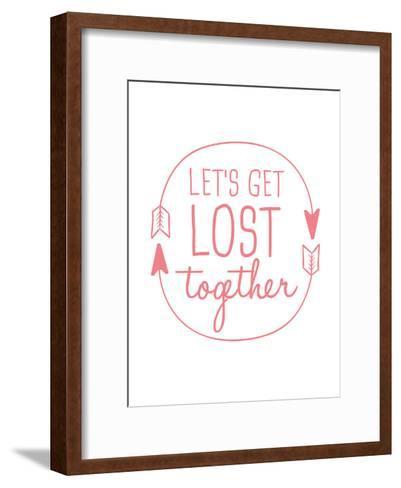 Coral Let's Get Lost-Jetty Printables-Framed Art Print