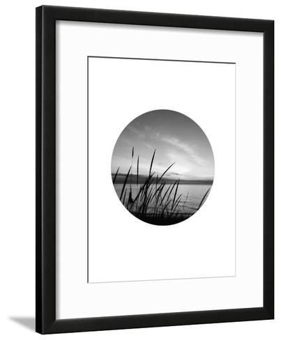 Dune Grass Circle-Jetty Printables-Framed Art Print