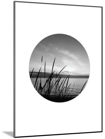 Dune Grass Circle-Jetty Printables-Mounted Art Print