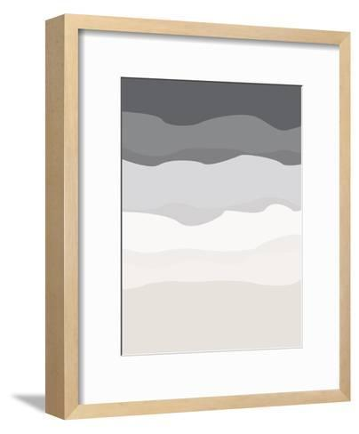 Gray Beige Abstract-Jetty Printables-Framed Art Print