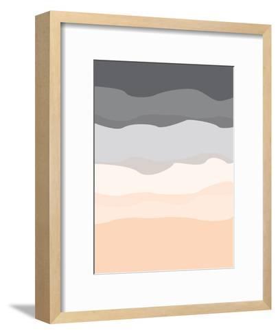 Gray Peach Abstract-Jetty Printables-Framed Art Print