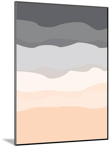 Gray Peach Abstract-Jetty Printables-Mounted Art Print