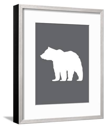 Gray White Bear-Jetty Printables-Framed Art Print
