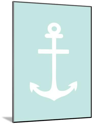 Mint White Anchor-Jetty Printables-Mounted Art Print