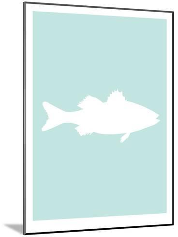 Mint White Sea Bass-Jetty Printables-Mounted Art Print