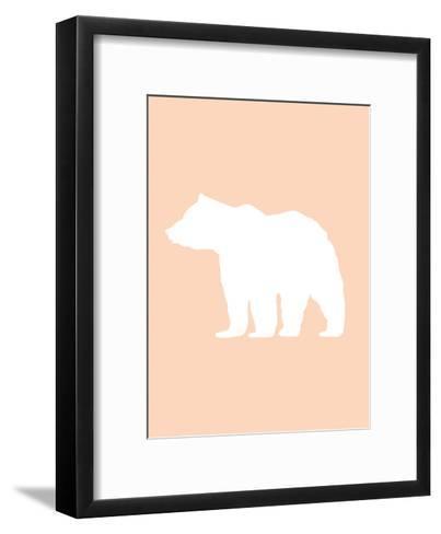 Peach White Bear-Jetty Printables-Framed Art Print